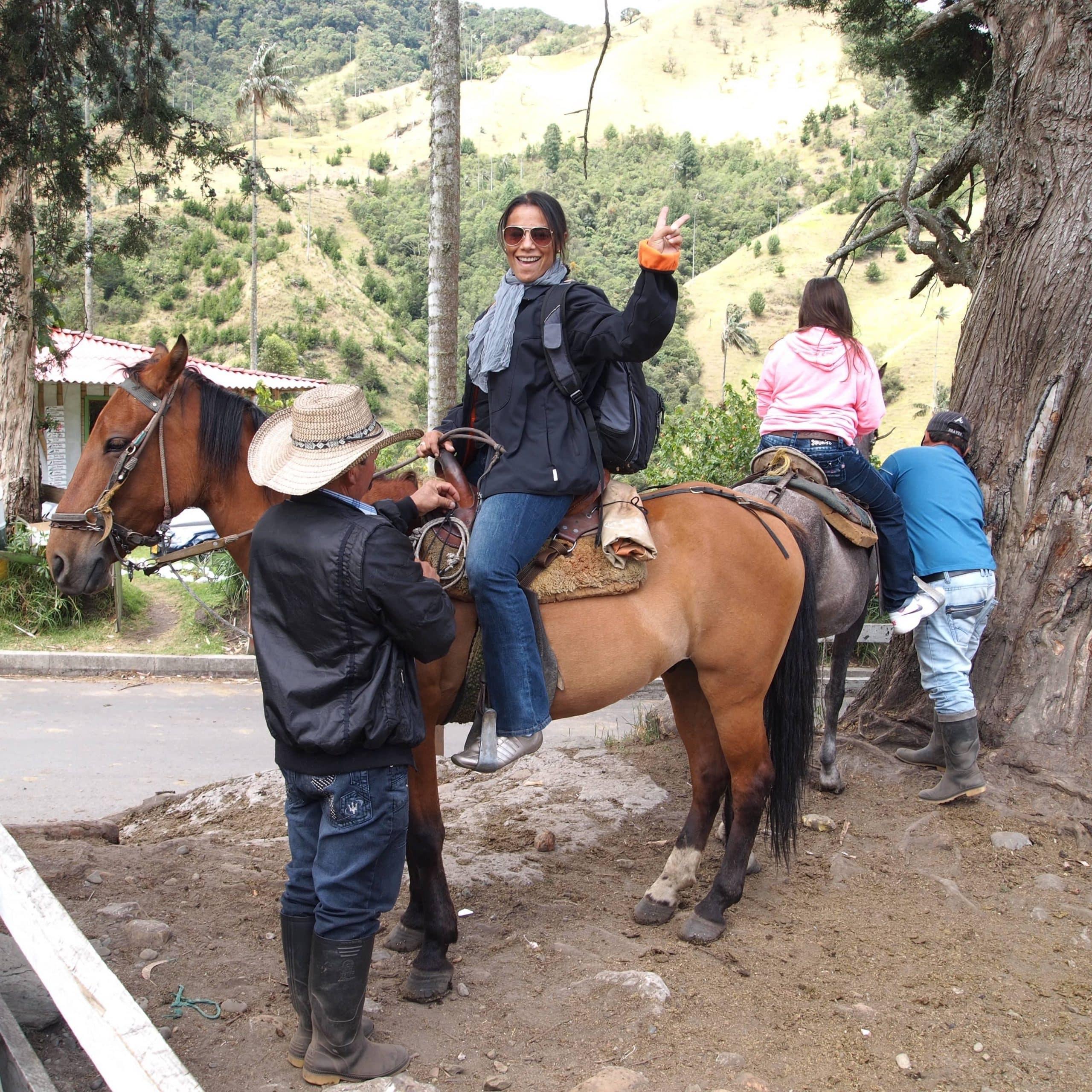 Excursión a caballo por el bosque de niebla del Valle de Cocora