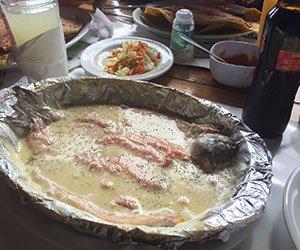 Trucha al coco en el Valle de Cocora