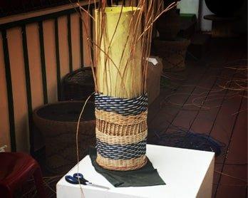 Trabajo de cestería en Filandia Quindío